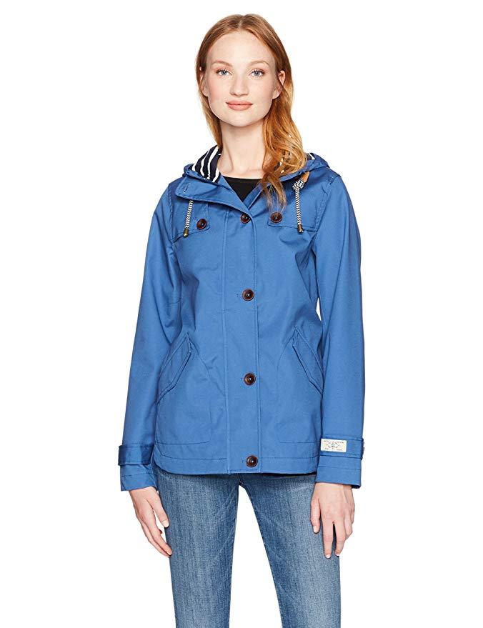 Joules Women's Coast Waterproof Rain Jacket with Hood