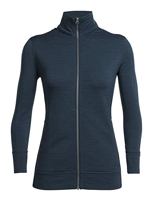 Icebreaker Merino Dia Long Sleeve Zip Top, New Zealand Merino Wool
